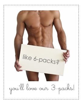 you like 6-packs? you'll love our 3-packs