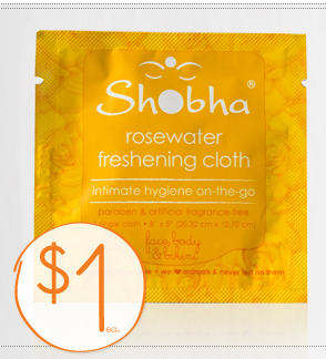 Shobha Rosewater Fresheing Cloth Single